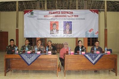 Patroli Bersama Pejabat Forkompinda Gunungkidul dalam rangka Pilkades Serentak 2019 di Kabupaten Gunungkidul