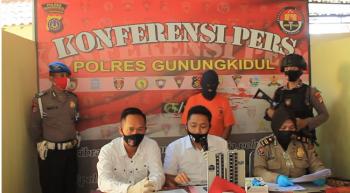 KONFERENSI PERS POLRES GUNUNGKIDUL