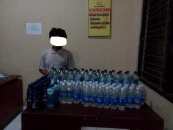 Ciu Sejumlah 93 Botol Disimpan Di Bunker Diamankan