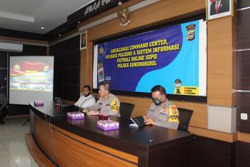 SOSIALISASI COMMAND CENTER, APLIKASI POLISIKU, DAN SISTEM INFORMASI PATROLI ONLINE (SIPO)