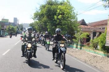 Patroli gabungan unsur Muspida Gunungkidul dalam rangka Pilkades serentak di wilayah Kec. Gedangsari