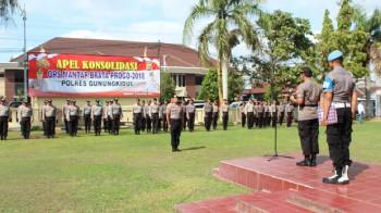 Apel Konsolidasi Ops Mantap Brata Progo 2018 Polres Gunungkidul