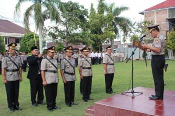 Serah Terima Jabatan Kabag Ops, Kapolsek Ponjong, Kapolsek Wonosari dan Kapolsek Patuk Polres Gunungkidul