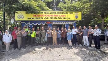 Kunjungan Forum Koordinasi Pimpinan Daerah ( Forkompimda ) Kabupaten Gunungkidul Ke Pos Pengamanan Operasi Lilin Progo 2019.